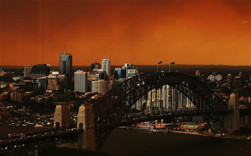 ciel-orange-feu-sydney